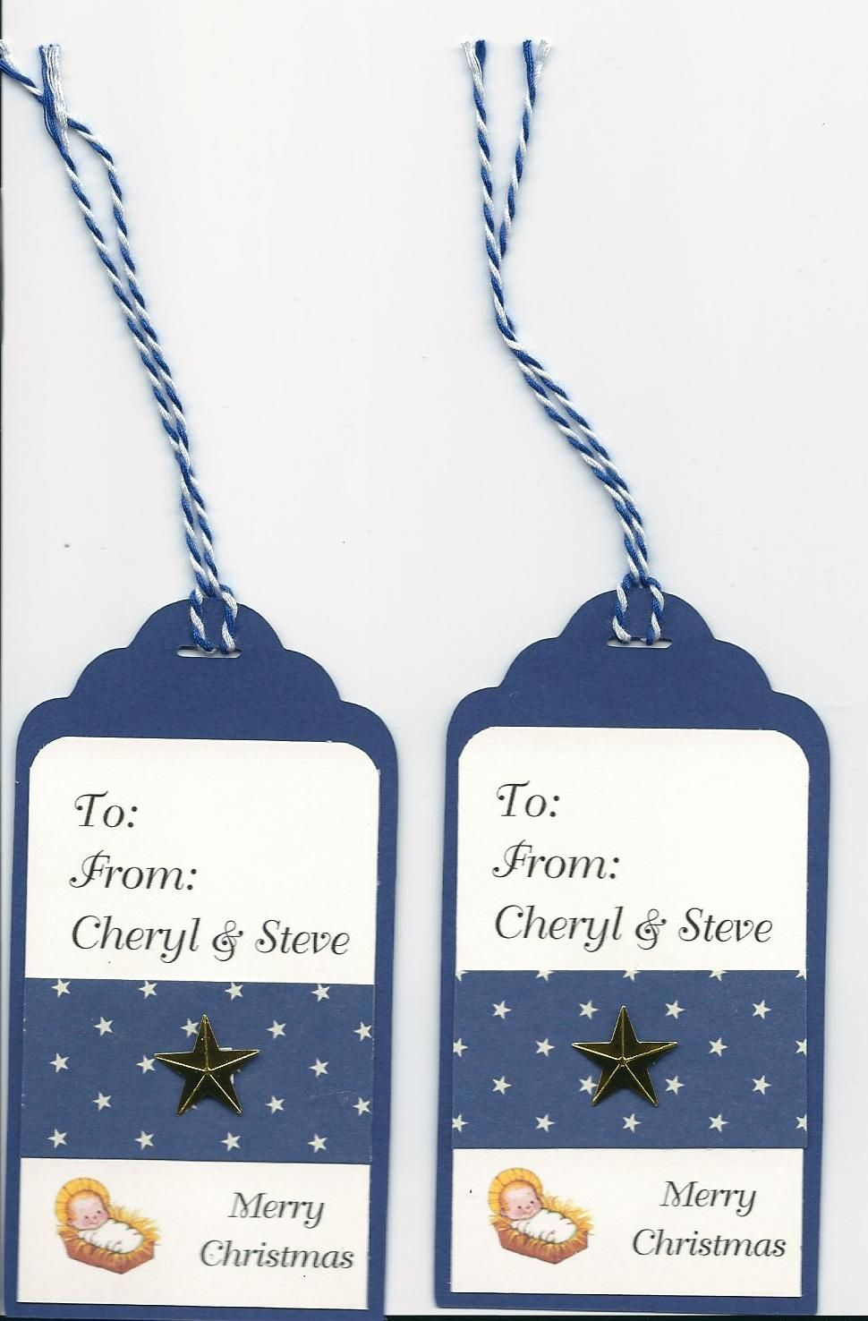 Tags bags boxes and more page 91 cut at 4 on blue 2 x 3 18 tags bags boxes and more page 91 cut at 4 on blue 2 x 3 18 white tag cut with paper cutter rounded on top 1 x 2 blue paper with stars kristyandbryce Images