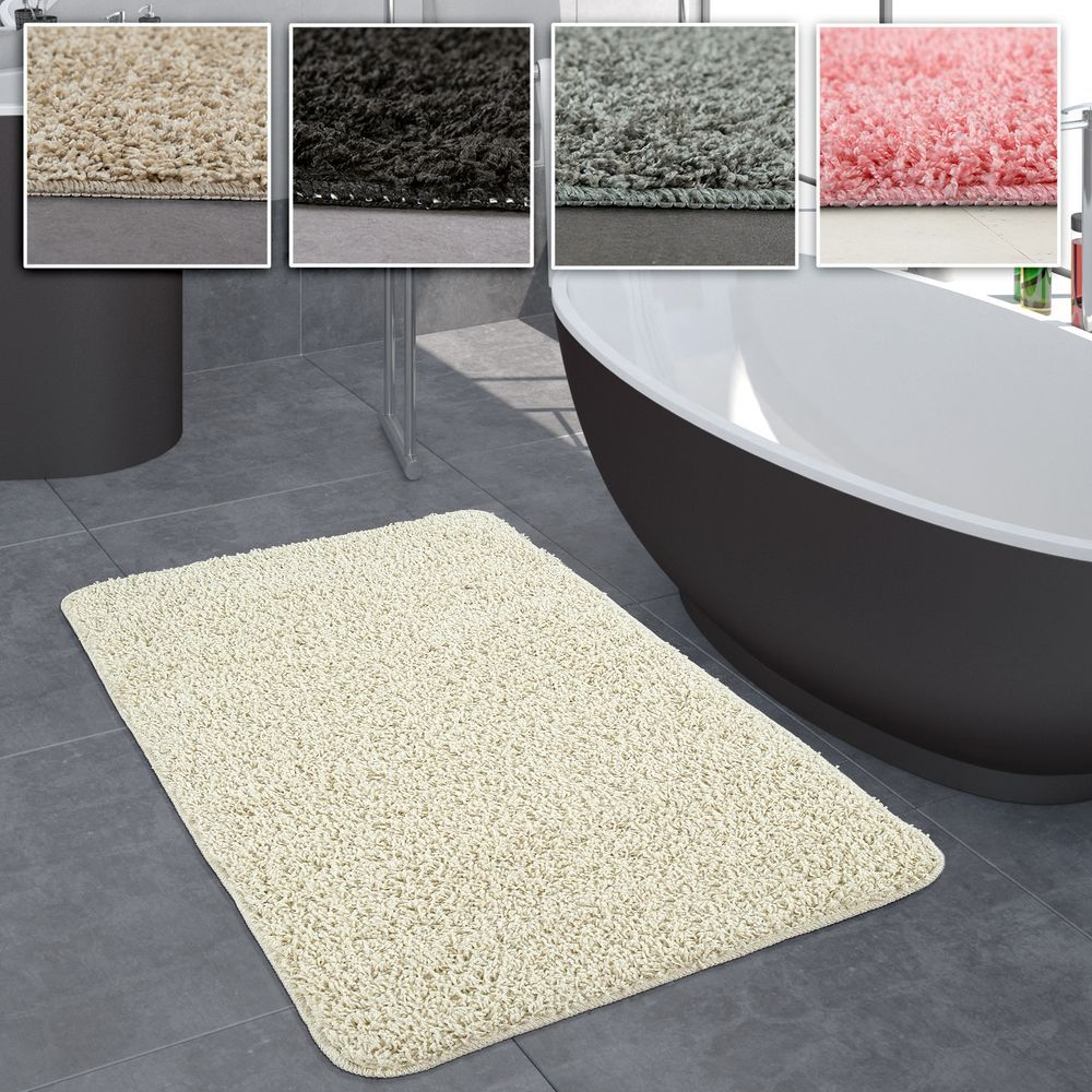 Hochflor Badezimmer Teppich Versch Grossen U Farben Badematten