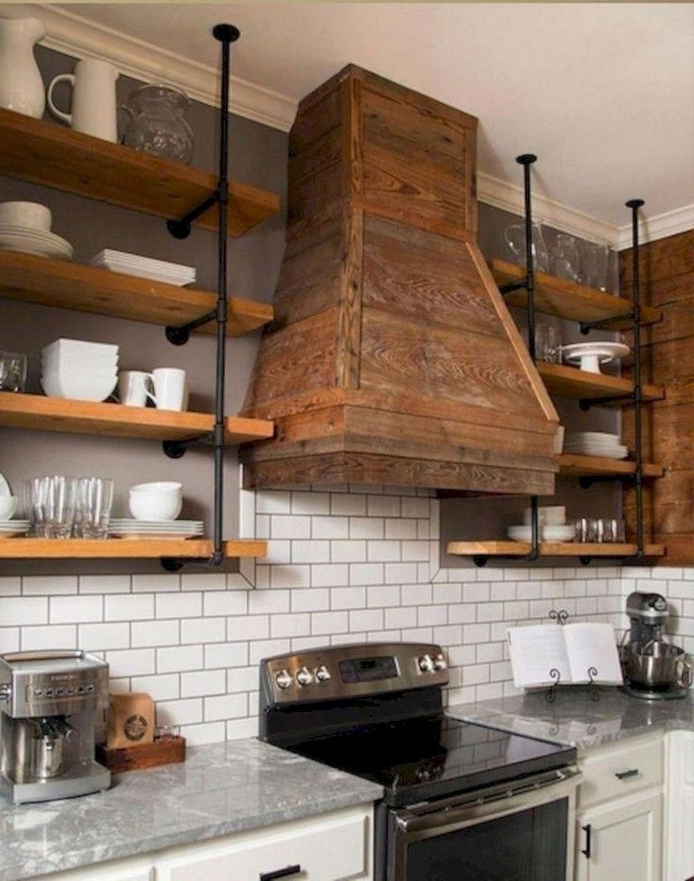 Paint Your Old Cabinets With A Couple Of Layers Of Paint Using A Dry Brush You Can Acquire Pin Stripe Ta Kitchen Vent Kitchen Range Hood Kitchen Hood Design
