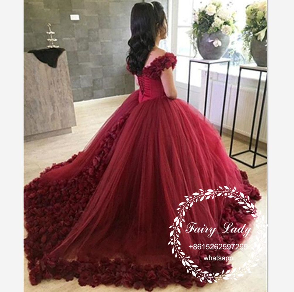 Gorgeous Flowers Sweet 16 Quinceanera Dresses 2018 Off Shoulder ...