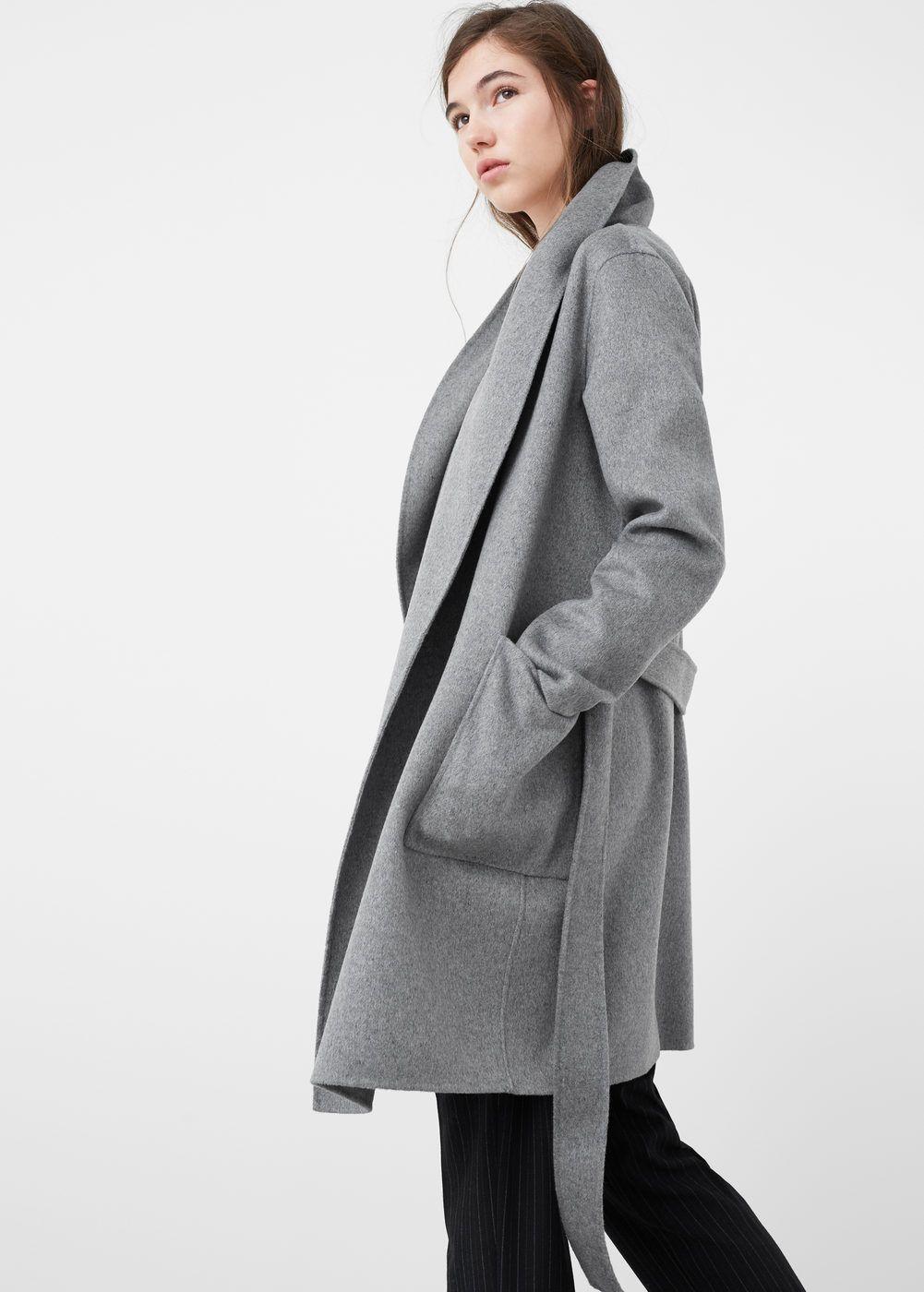 Mujer Abrigo Abrigos Lana Solapas Maxi Moda Pinterest Coats SqR7tqnxr