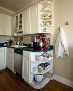 Kitchen Cabinet End Shelf | Kitchens | Pinterest | Galley kitchens ...