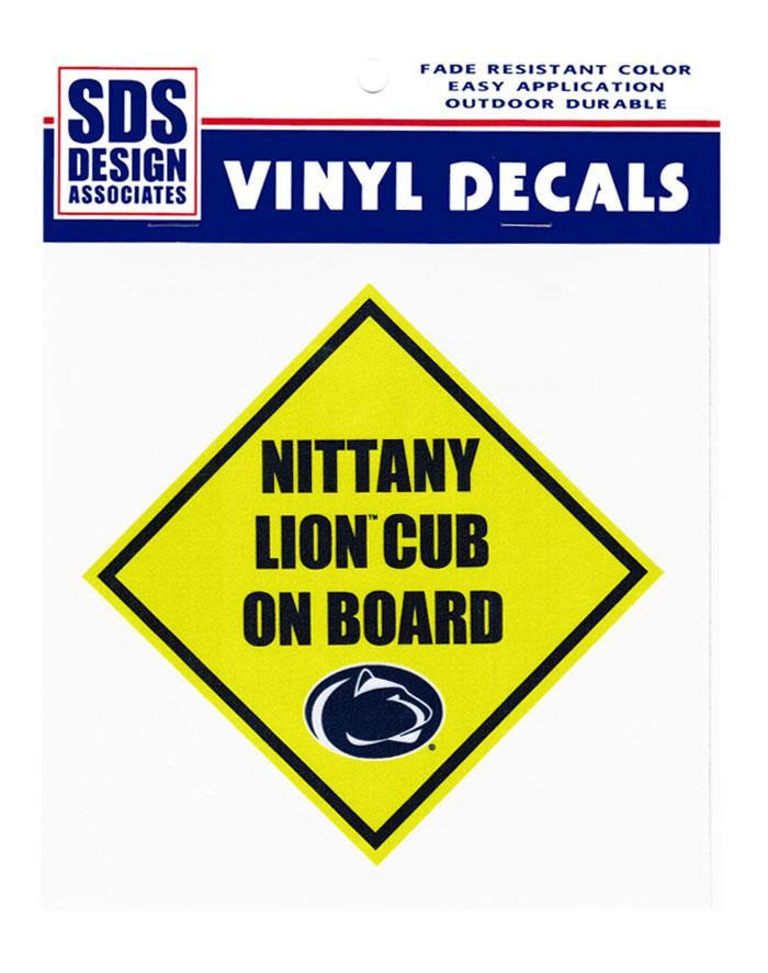 """Family Clothesline Coupon Code Penn State Nittany Lion Cub On Board 6"""" Decal  Souvenirs  Car"""