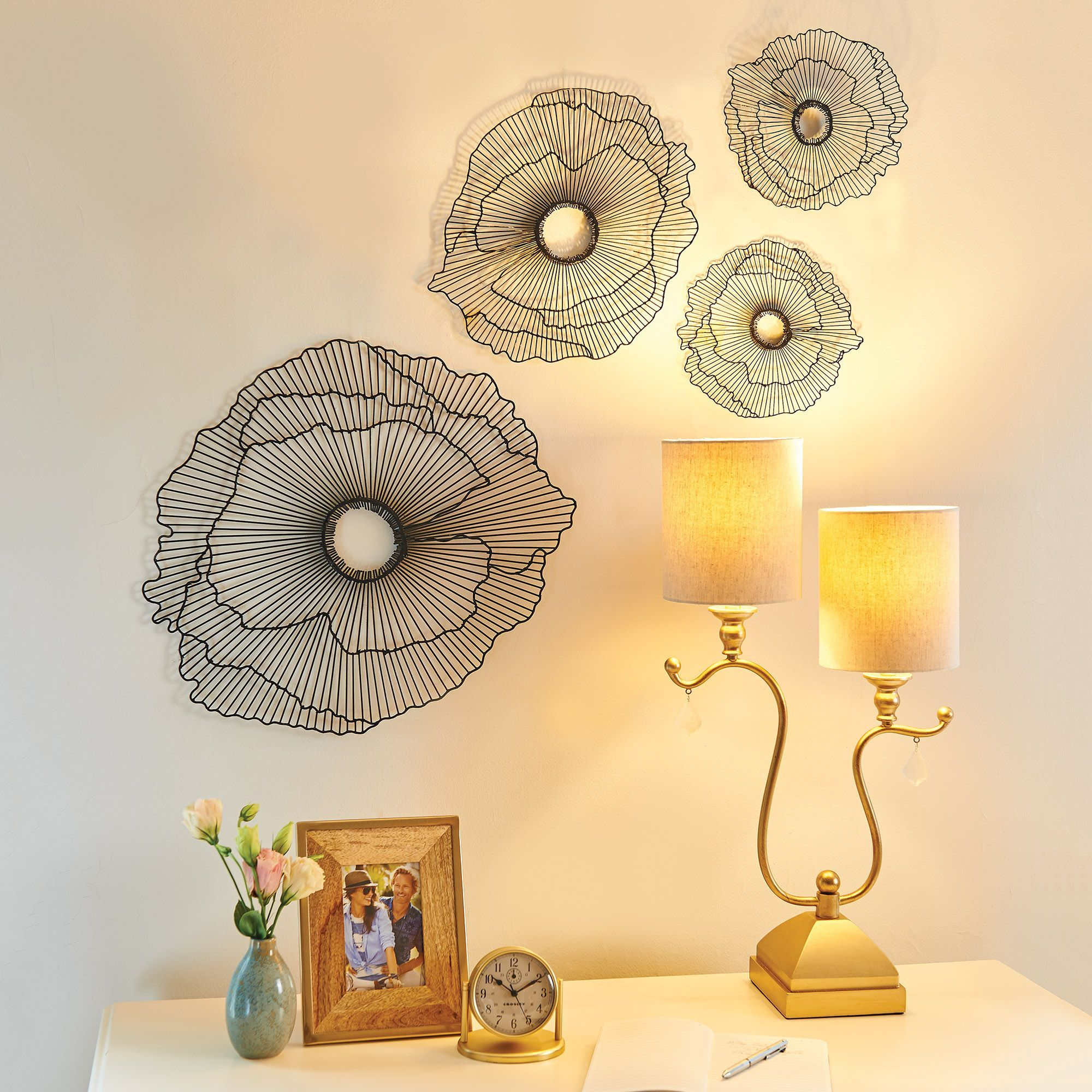Use your imagination with metal wall flowers and take your home ...