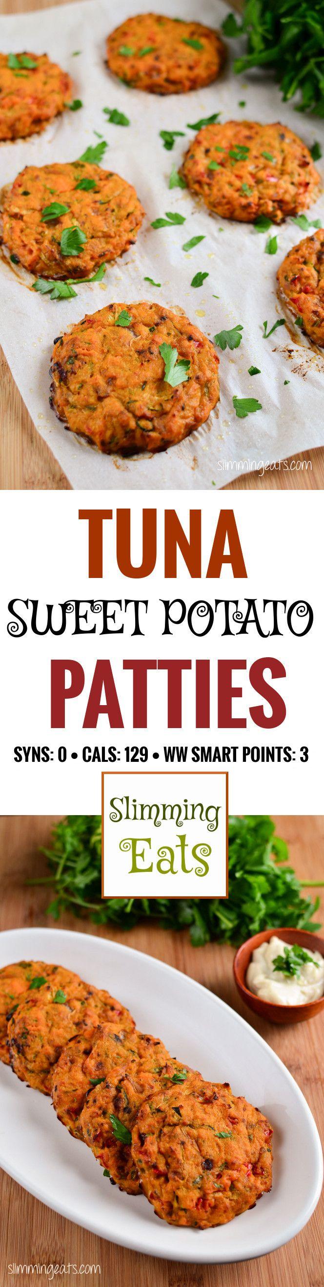Slimming Eats Tuna and Sweet Potato Patties – gluten free, dairy free, whole30…