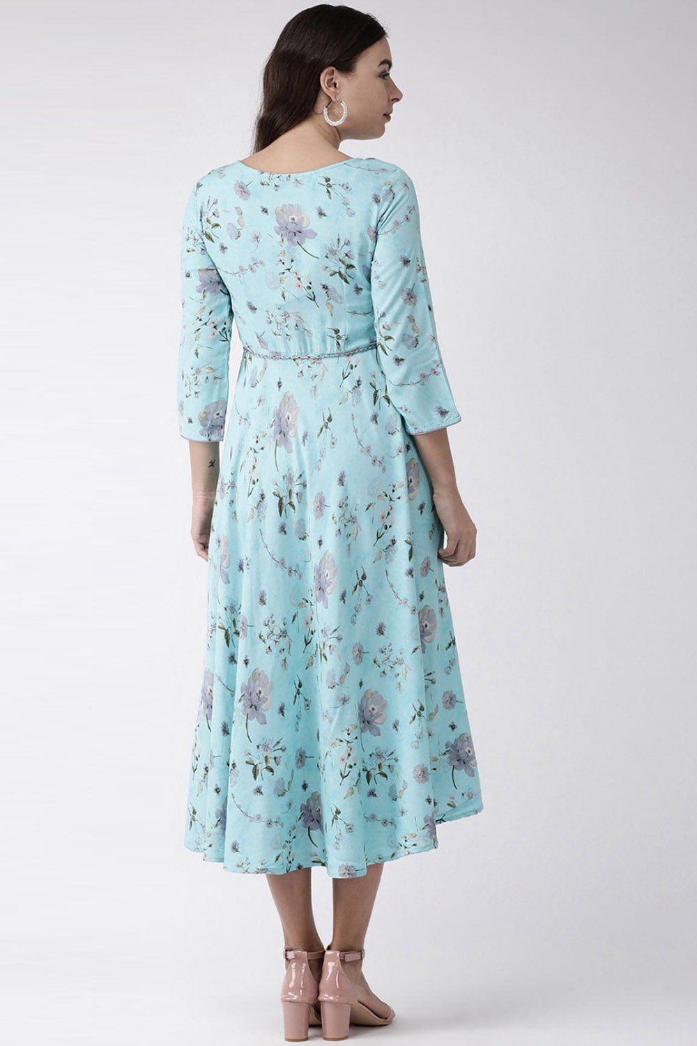 Viscose Printed Maxi Dress In Turquoise Printed Maxi Dress Maxi Dress Dresses [ 1500 x 1000 Pixel ]