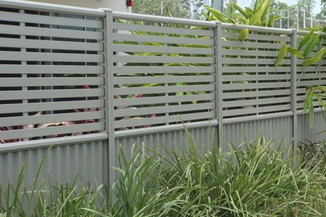 Clik 39 n 39 fit colorbond steel slat and sheet fence panel for Wood screen fence