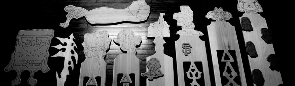 DANG PADDLES is where you can go to get CUSTOM Greek paddles! I make Greek paddles, custom Greek paddles and wood related cuts. My pricing is cheaper than stores and designs are up to your imagination. Pricing depends on the size & difficulty of the cuts. If your interested Call or text me at 626 377 2154 for Dang or send me a message/write on my wall :)