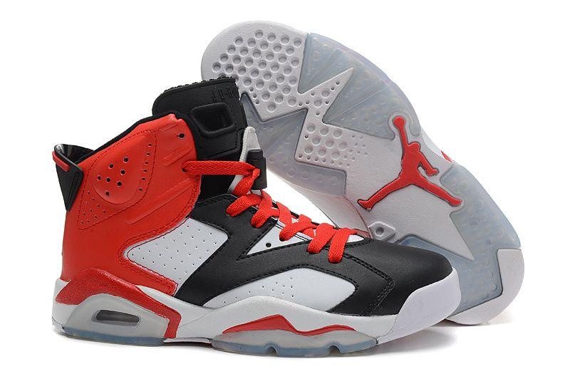 Nike Air Jordan 6 Retro Black White Red For Sale, Price: - Air Jordan Shoes,  New Jordan Shoes, Michael Jordan Shoes