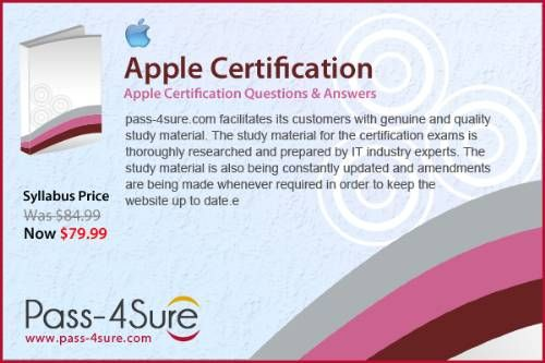 Pass4sure Offers most Authentic Apple training to pass exam. Free ...