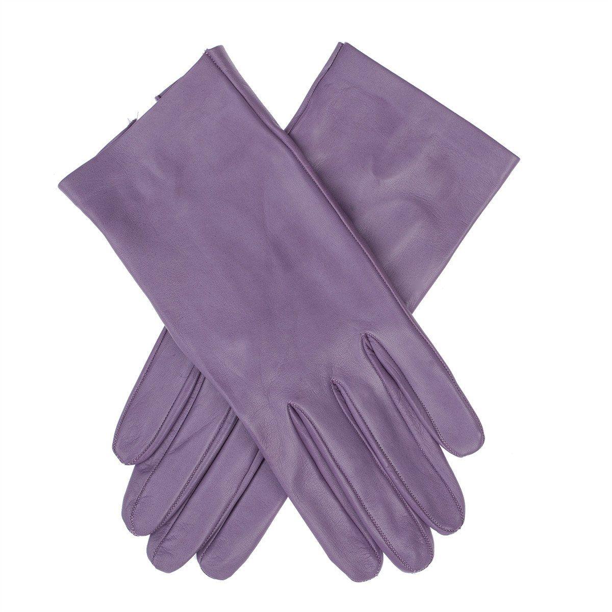 Womens leather gloves purple - Lundorf Flora Womens Unlined Leather Gloves Purple Size 8