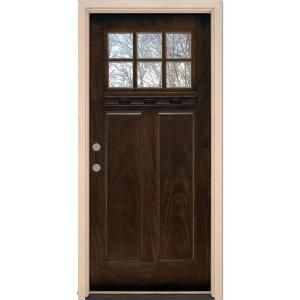 Unique 6 Lite Fiberglass Entry Door