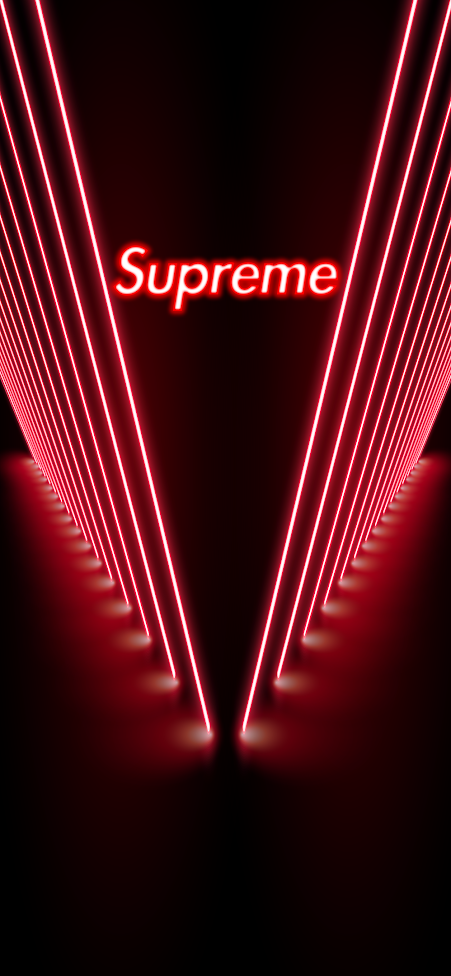 Red neon supreme iphone wallpaper in 2020 Supreme iphone