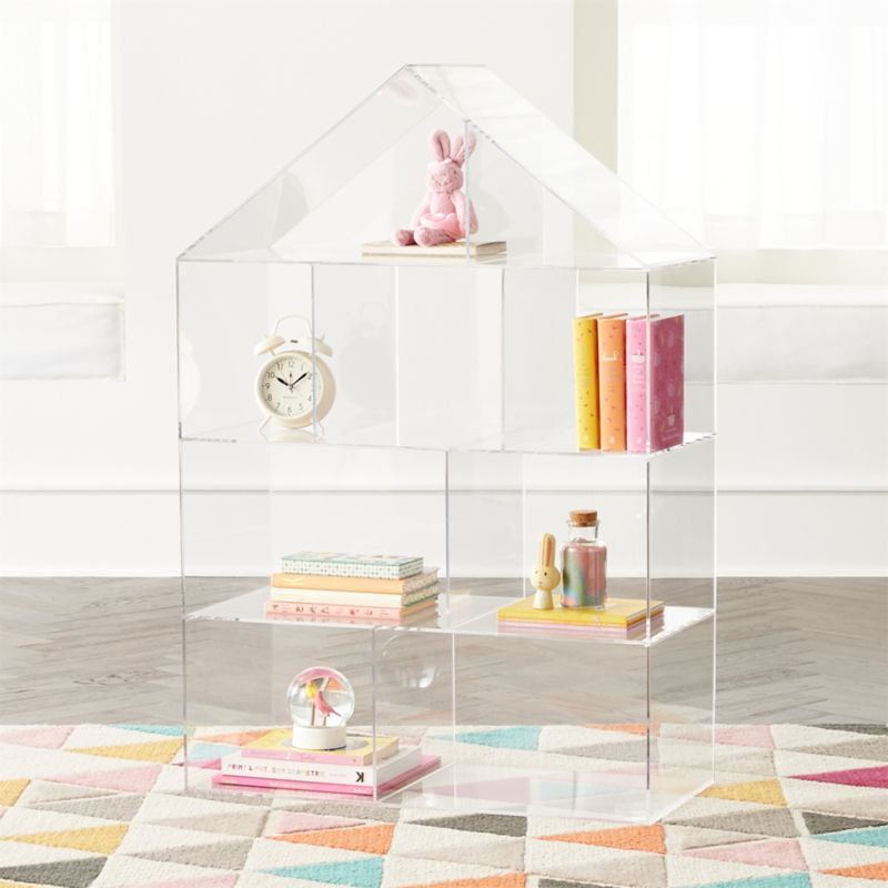 Acrylic House Bookcase Reviews Crate And Barrel Acrylic