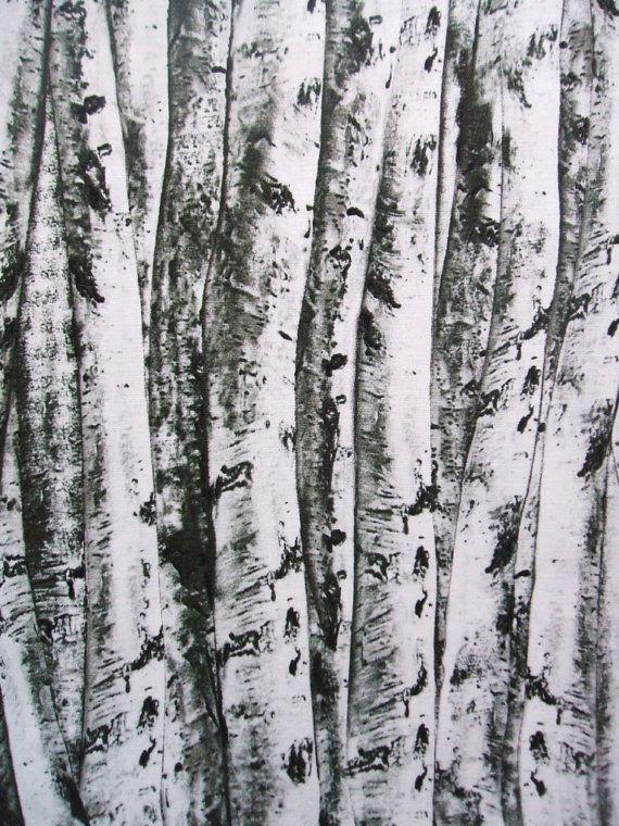 Timeless Treasures Birch Tree Bark Trunks Cotton Fabric 1 Yard AliceInStitchesArts €7,92 EUR