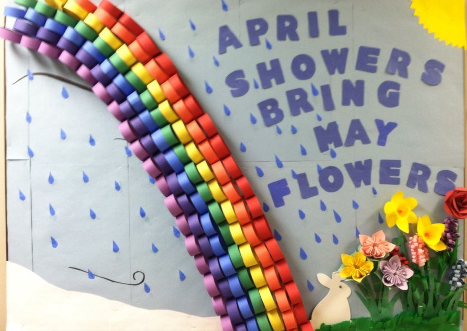 April Bulletin Board At My Nursing Home April Showers Bring May