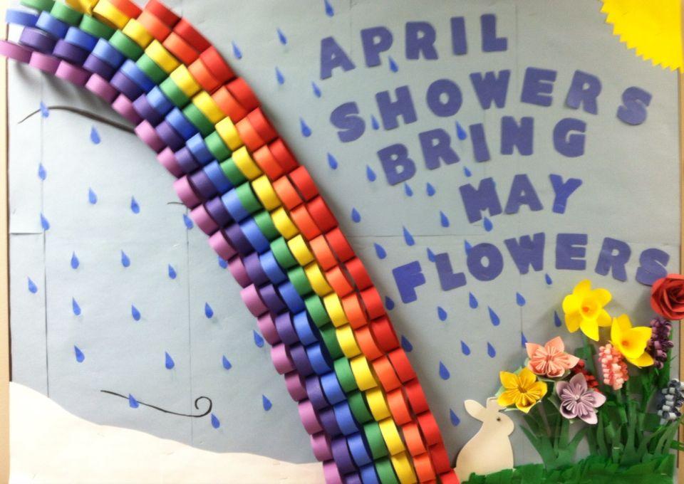April Bulletin Board At My Nursing Home April Showers Bring May
