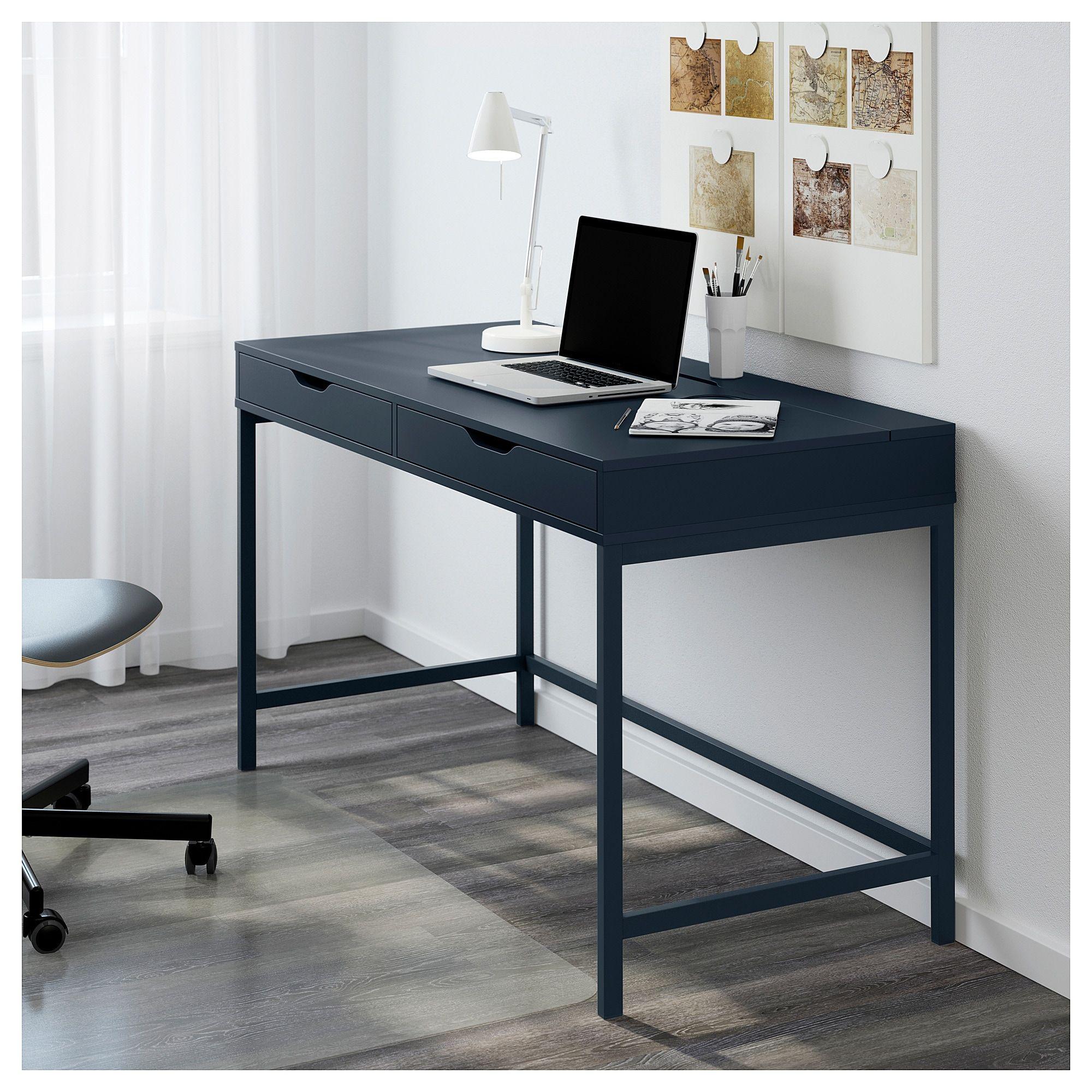 ALEX Desk blue 131x60 cm Alex desk, Grey desk, Ikea
