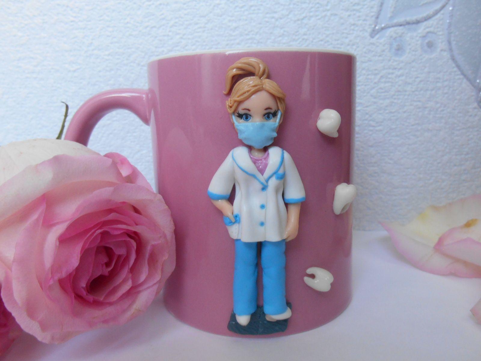 Доктор на кружке Куклы из полимерной глины, Кружка и