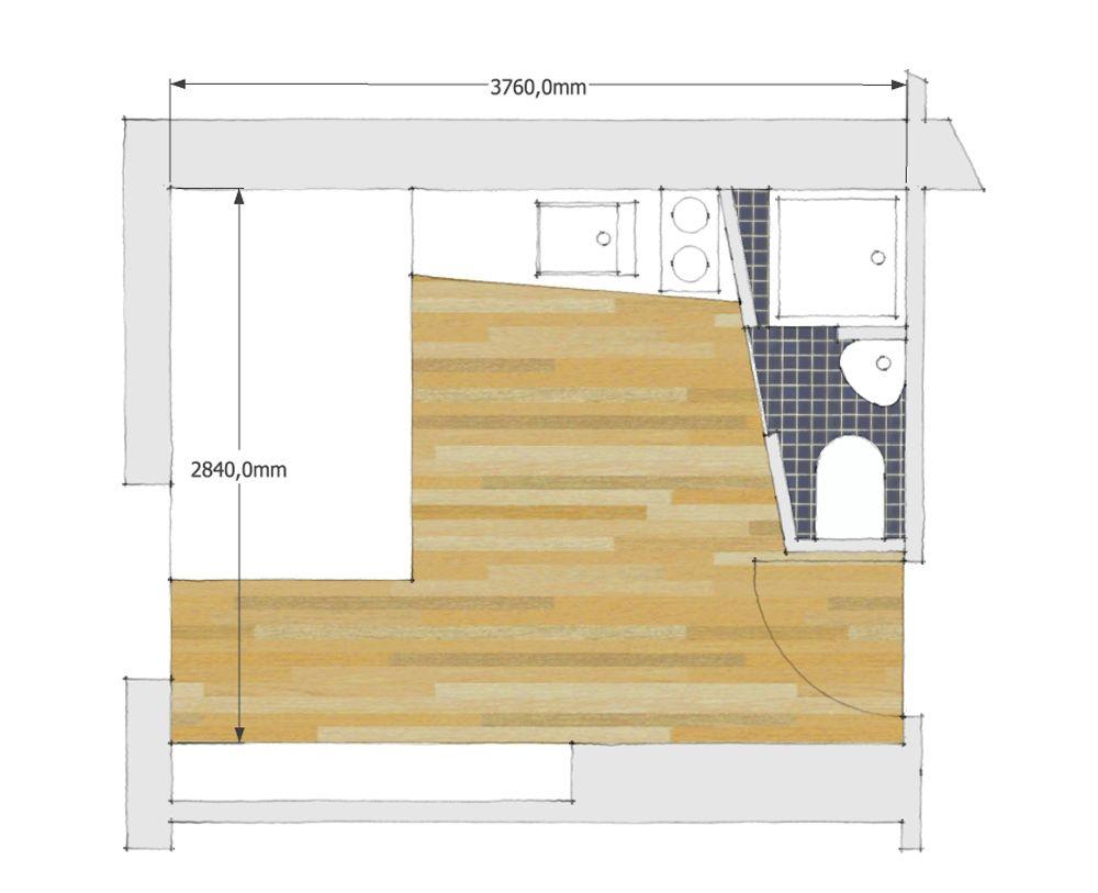 Chambre de bonne 10m2 petits espaces pinterest for Amenagement salon 10m2