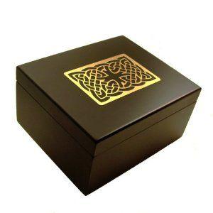 Celtic Tree Tazo Tea Box Wooden Tea Chest Includes 44 Tazo Tea Bags