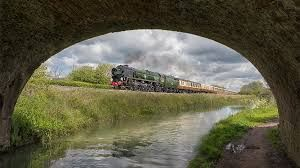 A rejuvenated steam engine and Kennet and Avon canal - Assurance - http://myBook.to/Assurance