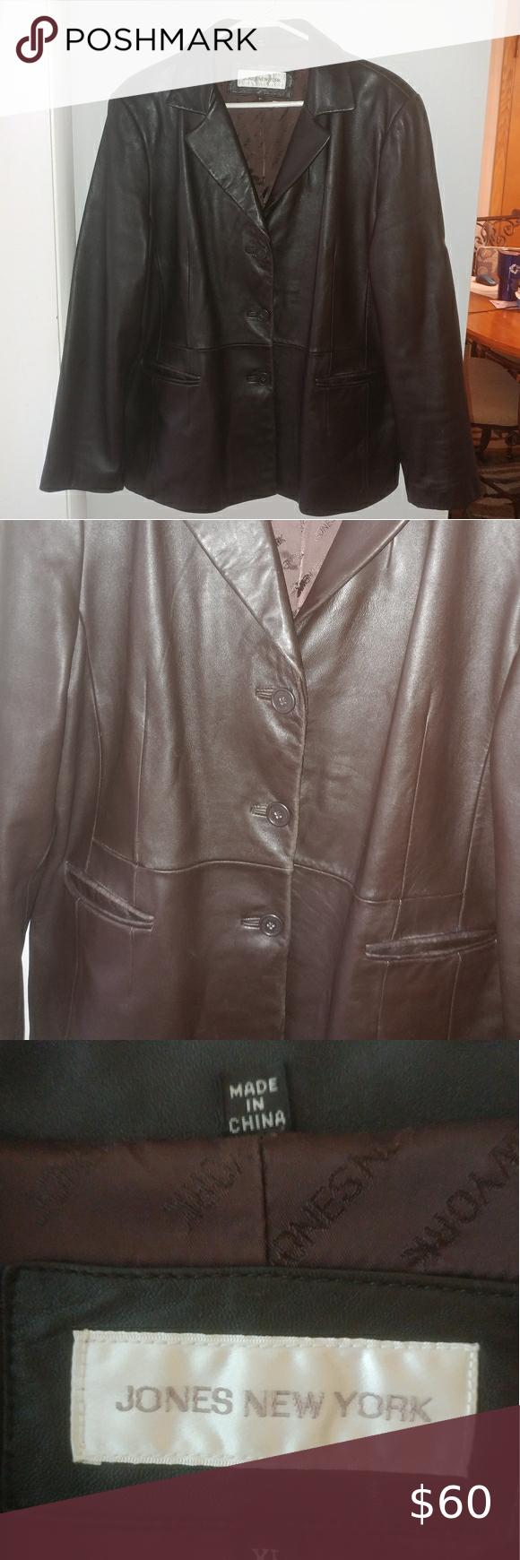 Jones New York Leather Jacket Jones New York Leather Jacket Jackets [ 1740 x 580 Pixel ]