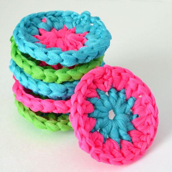 Neon Crochet Pot Scrubbers Tutorial | Crochet, Neon and Tutorials