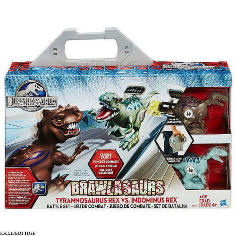 Jurassic World Movie Toy * Brawlasaurs Battle Set TRex vs