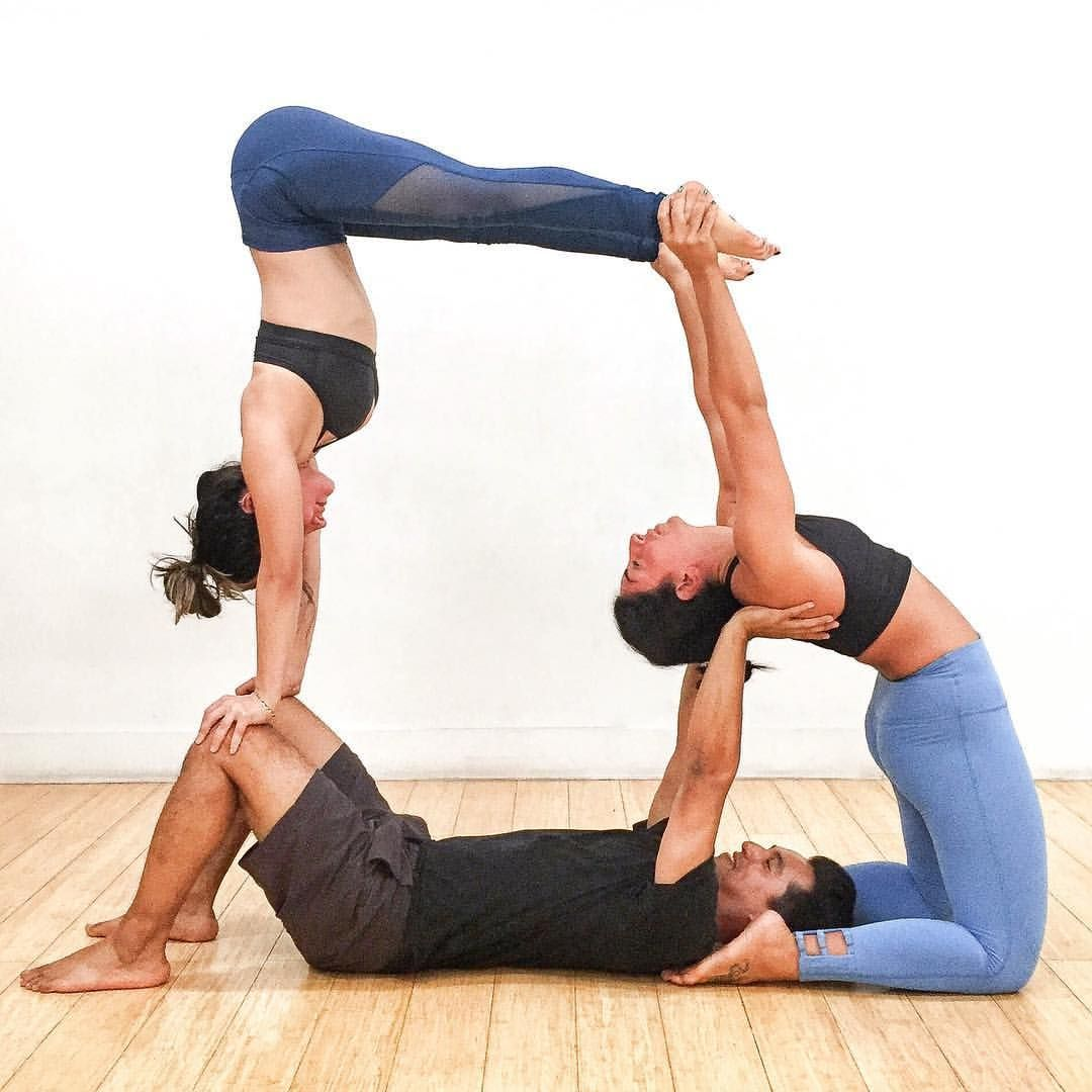 Audrey Ann Guedelekian ॐ On Instagram Littleyogii Eyeofjose Mik In 2020 Yoga Challenge Poses Acro Yoga Poses Three Person Yoga Poses