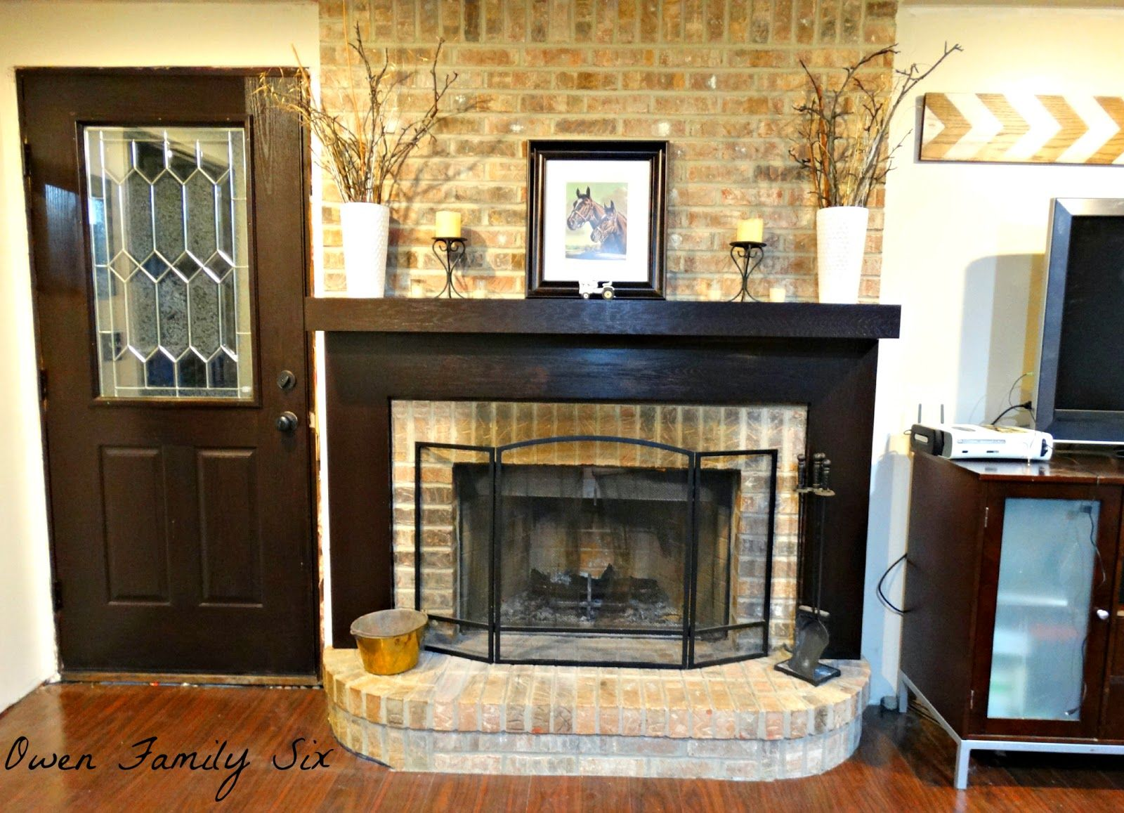 would the fireplace look good with brick cottage pinterest