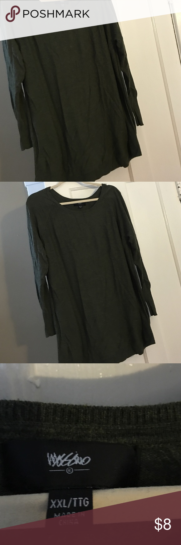 Dark green tunic sweater Very basic green tunic sweater. Perfect ...