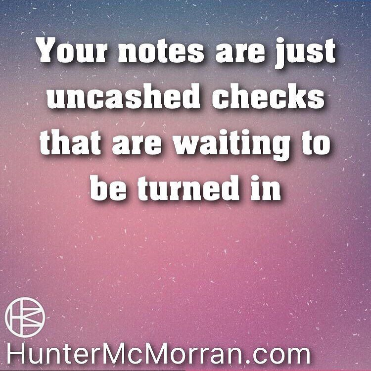 Don't let your notes sit around and collect dust. You can create content and make money from all your notes and future notes.
