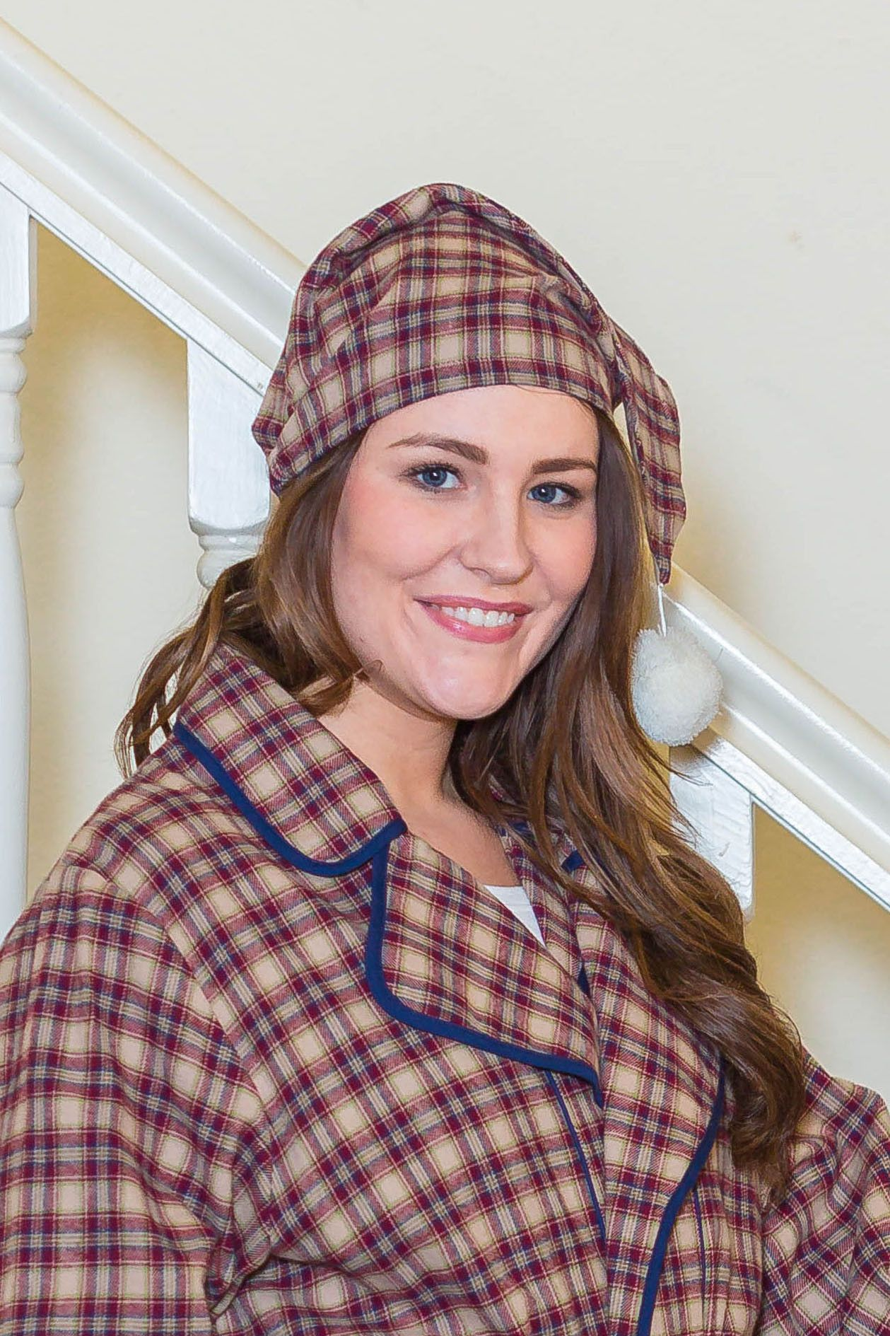 e6e811e899 Nightcap Irish Country Flannel Ladies - SF4 Claret Check  collarless   irishflannel  granddadshirt  leevalleyireland  grandfathershirt   fabulousflannel ...