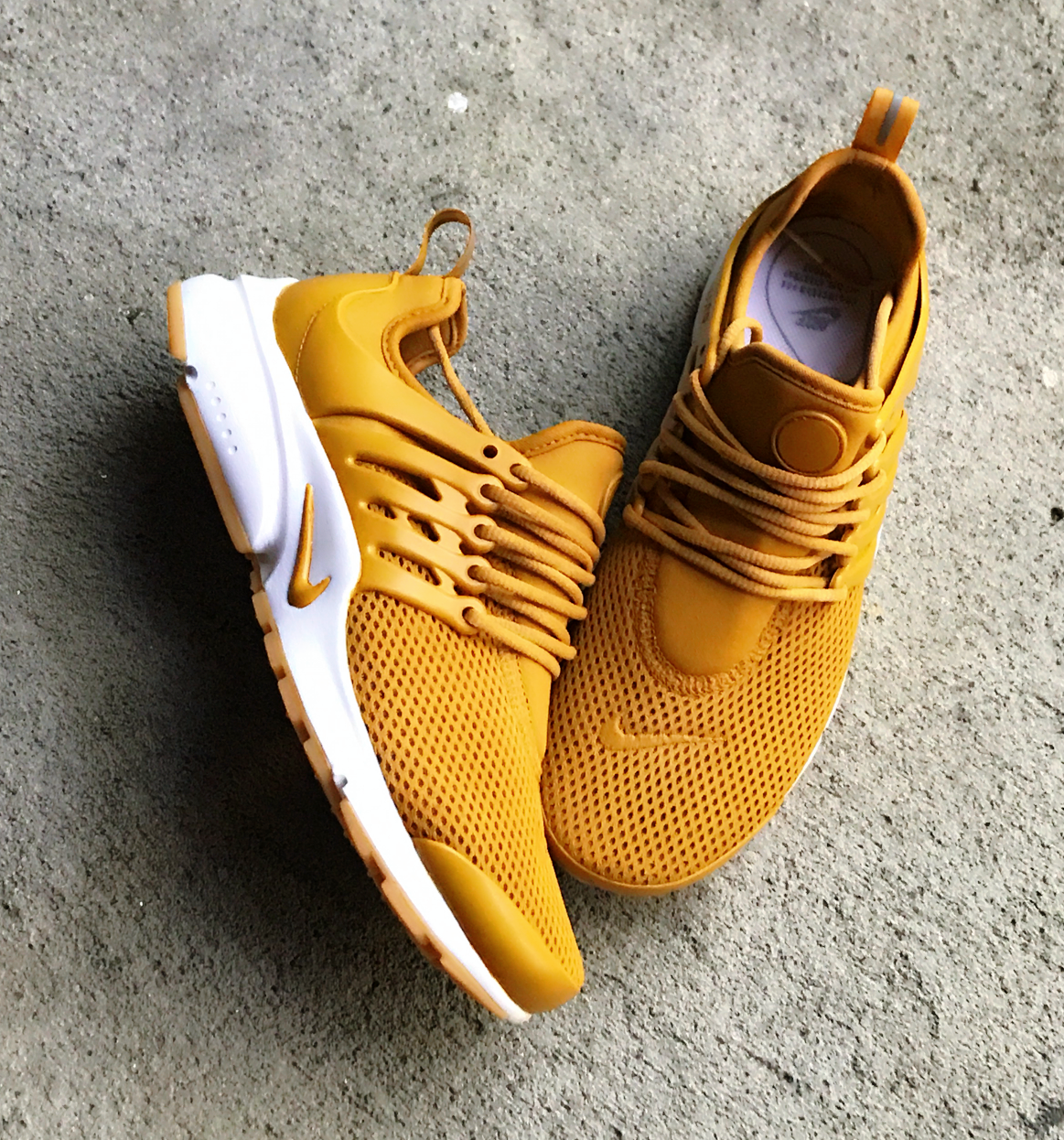brand new e2cca fae34 Mustard Yellow Nike Presto Custom available at Queenofcustoms.com