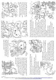 English worksheet: Three Little Pigs (Story Mini Book