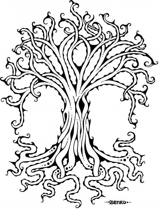 Celtic Tree Of Life Drawing : celtic, drawing, Benko, Drawing,