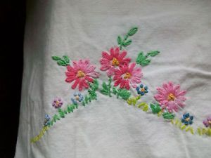Vintage Hand Emroidered Crocheted Southern Belle Pillow Case Butterfuly | eBay