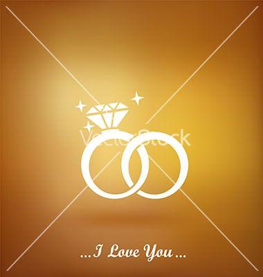 Wedding rings vector by Liubou on VectorStock®