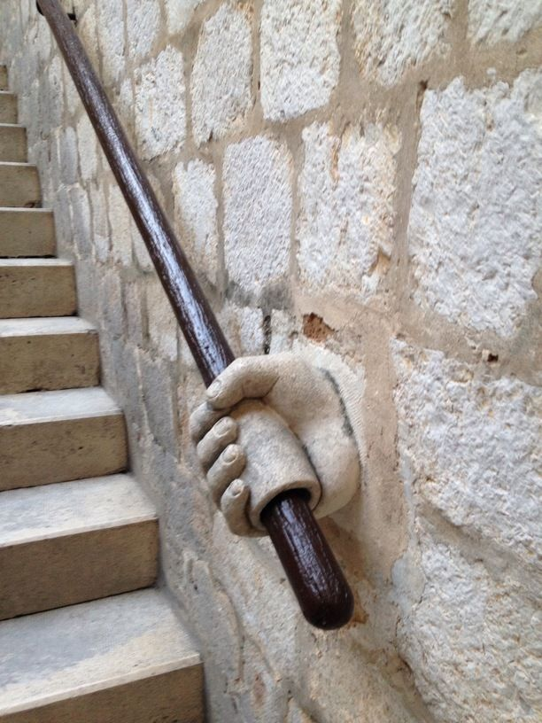 Dubrovnik, Croatia — by Ewan Webster. These amazing stairs in the rectors palace ,,in the old city. Hands ever were .