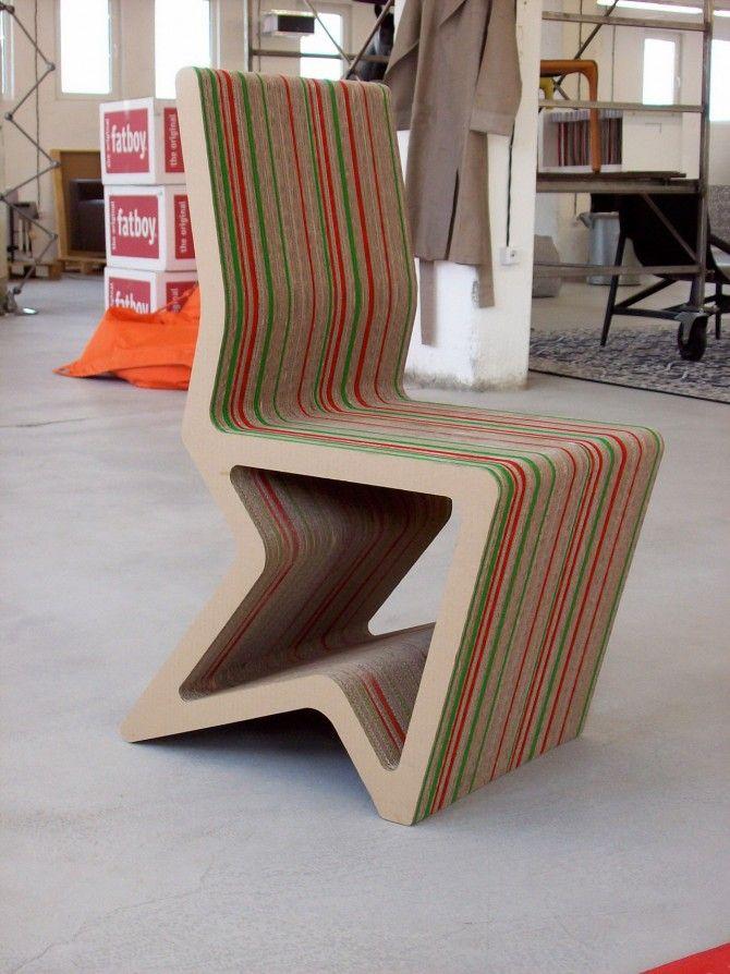Cardboard Furniture Design For Unique Chair   Cardboard ...