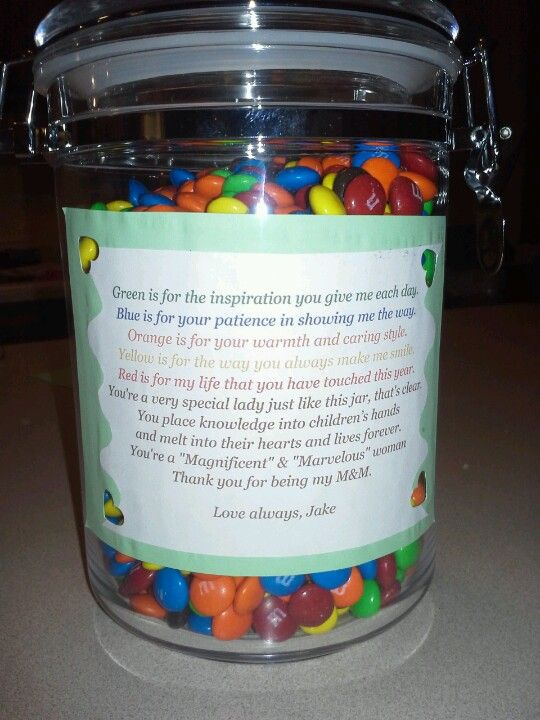 Christmas and thank you present for a child care provider ...
