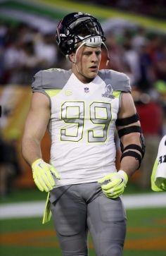 Houston Texans  J.J. Watt before the NFL Football Pro Bowl Sunday a8292ce19