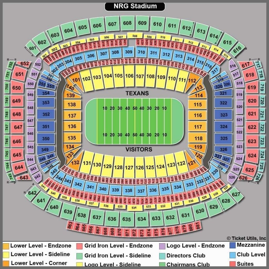 Nrg Stadium Seating Chart With Seat Numbers