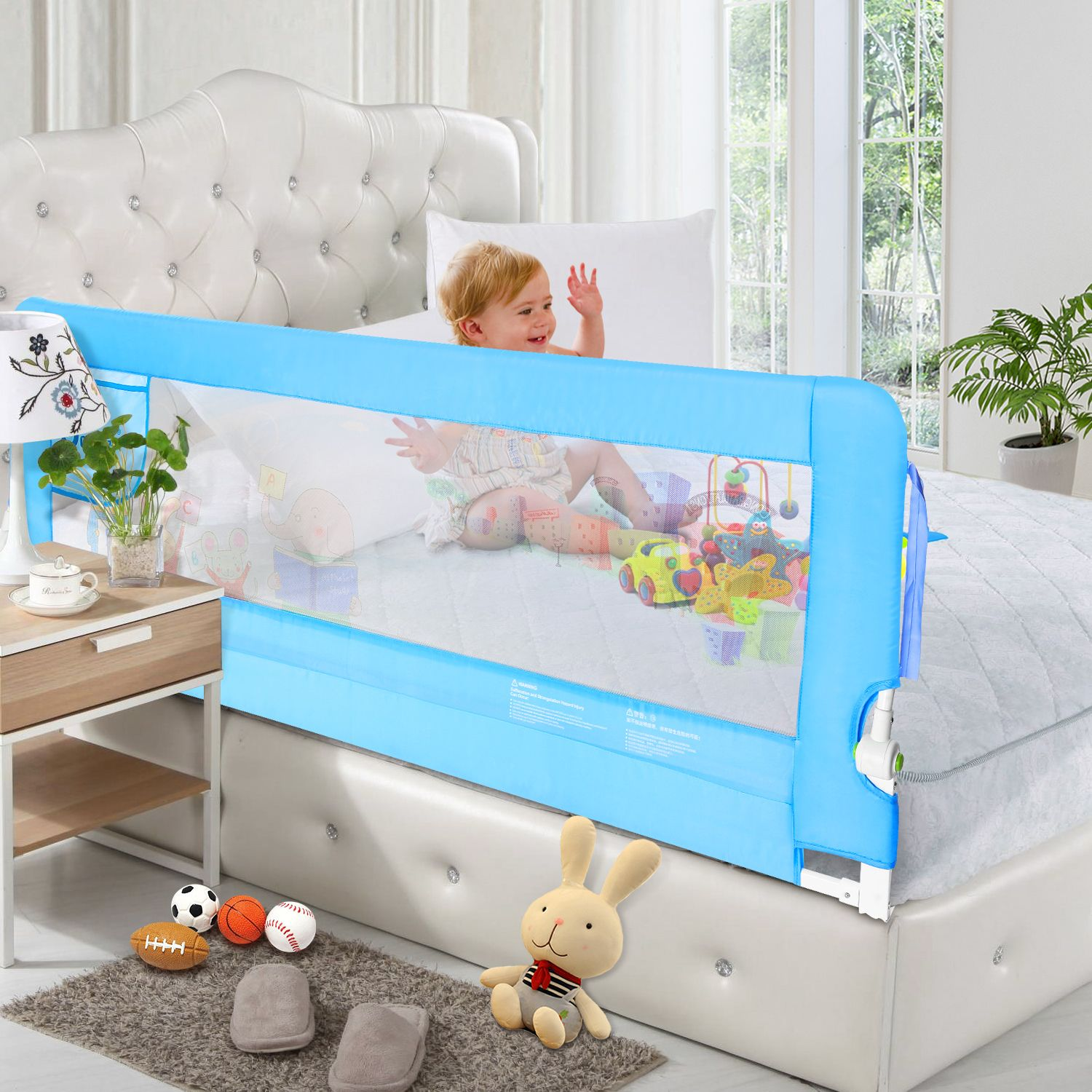 Baby Bed Rails Blue Bedding Bed Rails For Toddlers