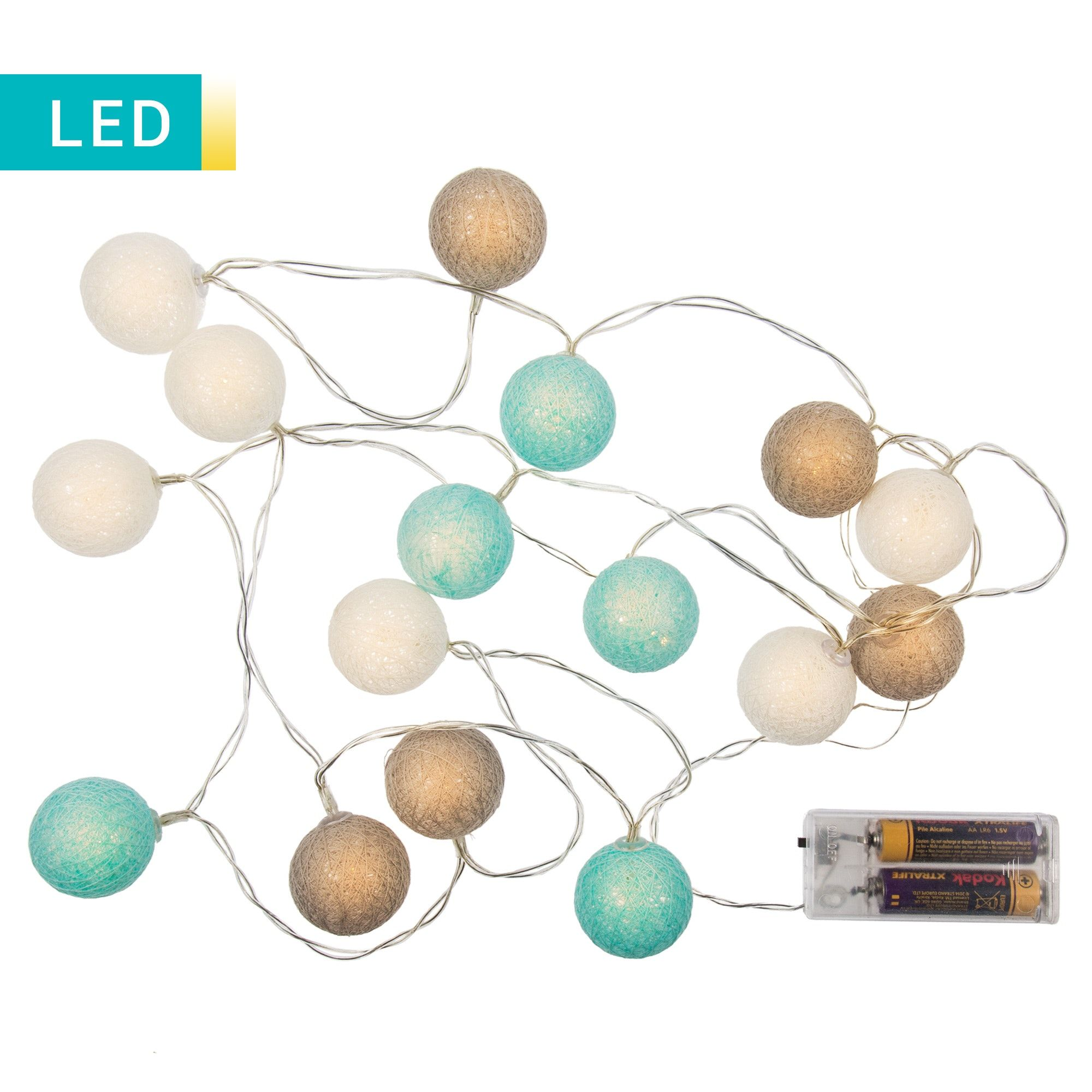 Led-lichterketten ledlichterkette mit farbigen kugeln  adihome  pinterest
