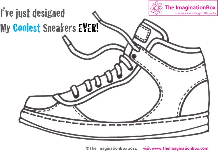timeless design 850a4 b4485 Imagine running around in your own designer sneakers! Free pdf download,  explore colour, shape, graphic design