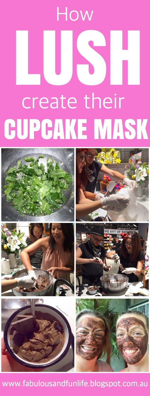 How Lush Create / Make / DIY their Cupcake face mask. It's chocolate heaven!