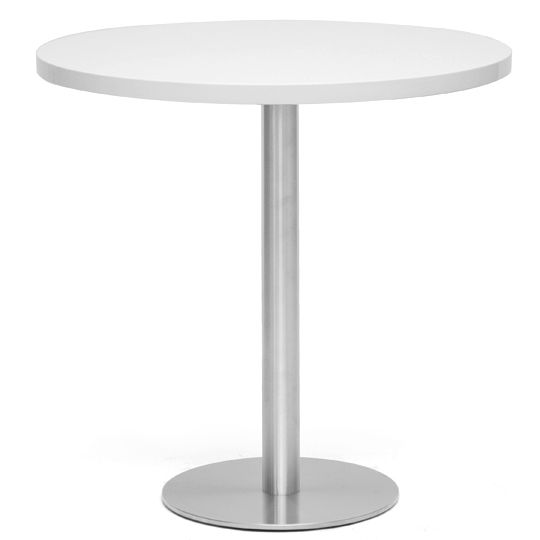 Monaco Large Round White Modern Bistro Table