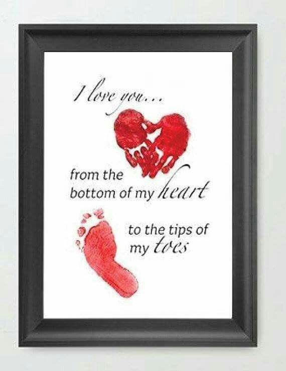 Baby Hand And Foot Print Idea Mom Gifts Mother Day Homemade For